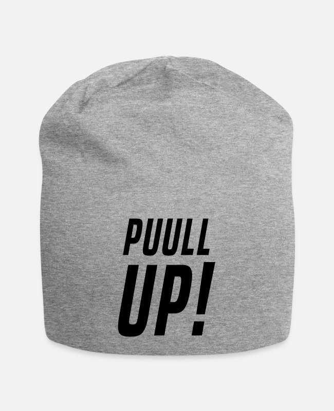 Dancehall Caps & Hats - PUULL UP - Beanie heather grey