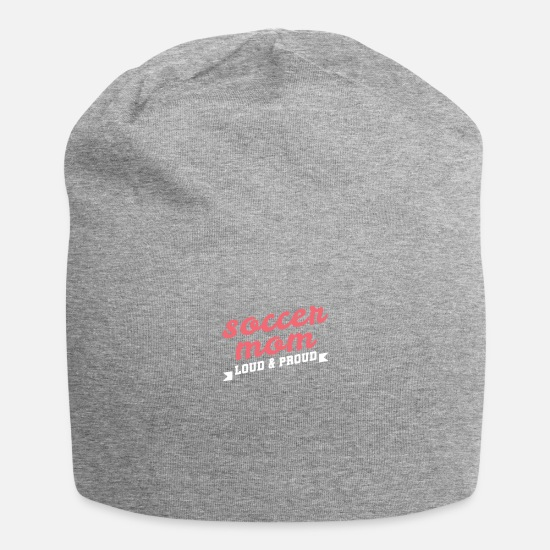 Birthday Caps & Hats - Football Mom Gift Mother's Day Footballer Saying - Beanie heather grey
