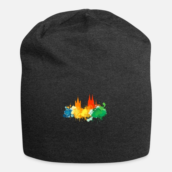 Gift Idea Caps & Hats - Cologne Skyline Kölner Kölle - Beanie charcoal grey