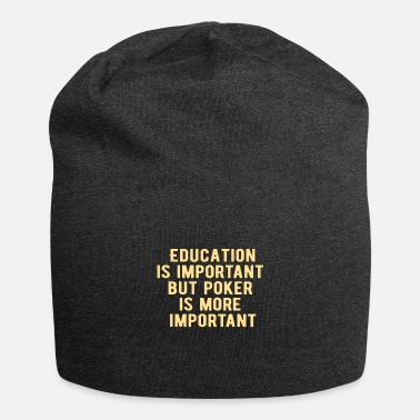 Las Vegas POKER: Education is important - Beanie