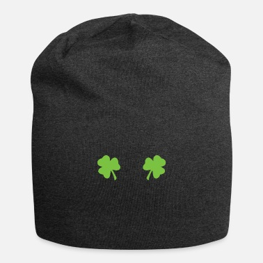 Celebrate St Patricks Clover Boobs - Beanie
