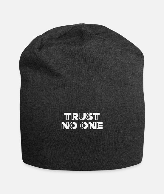 Lucifer Caps & Mützen - TRUST NO ONE - Beanie Anthrazit