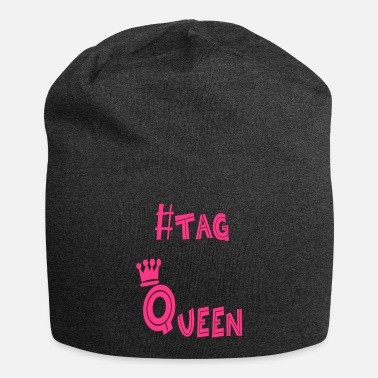ebd5c1f992d7f7 #tag Queen design printed in glitter pink - Beanie