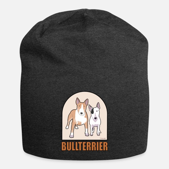 Pet Caps & Hats - Bull Terrier - Beanie charcoal grey