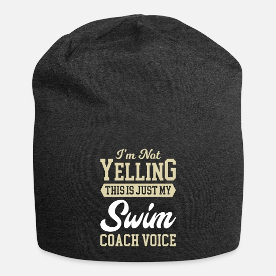Weihnachtsgeschenk Caps & Mützen - Cool Funny Best Swim Coach Instructor Humor Quotes - Beanie Anthrazit