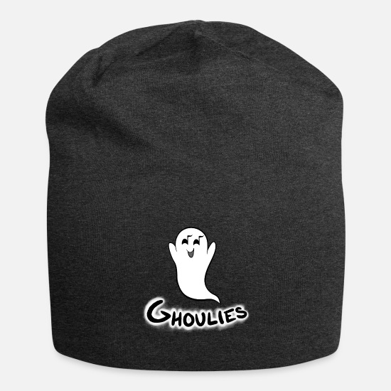 Ghost Caps & Hats - Ghost & Ghoulies word - Beanie charcoal grey