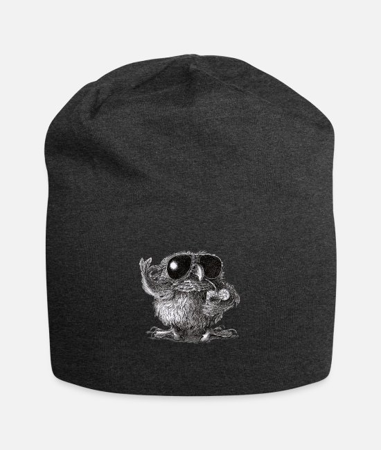 Usa Caps & Hats - Cool Owl - Beanie charcoal grey