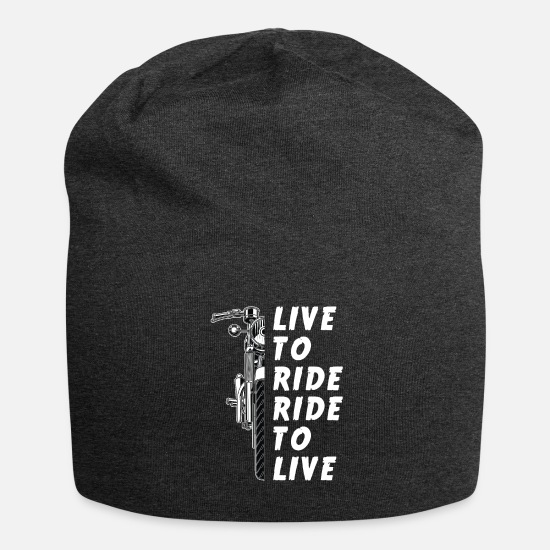Motorcycle Caps & Hats - LIVE TO RIDE RIDE TO LIVE - Motorcycle - Motorbike - Beanie charcoal grey