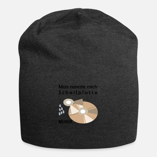 Alcohol Caps & Hats - CD - Vinyl Record - Music - BowieDesigns - Beanie charcoal grey
