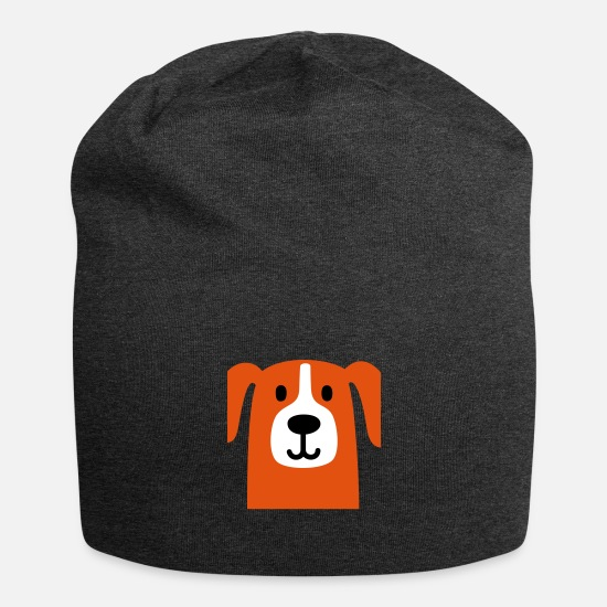 Animal Caps & Hats - Cute dog - Beanie charcoal grey