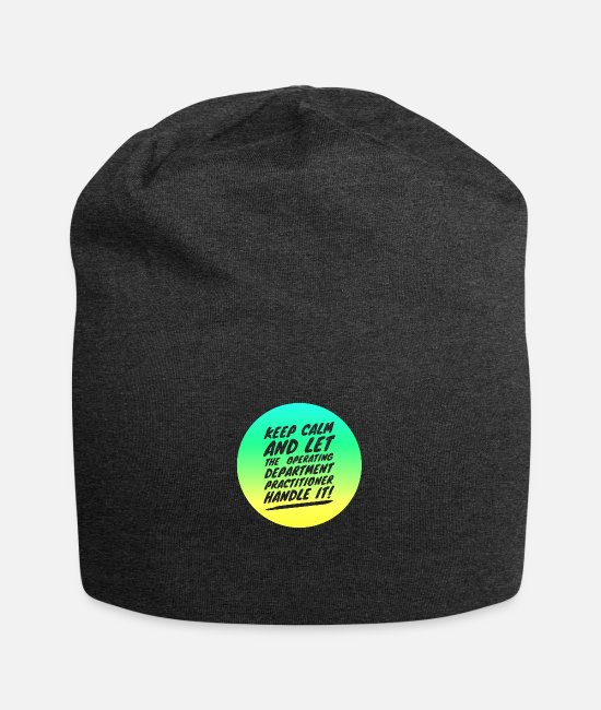 Operating Department Practice Caps & Hats - Keep calm 3 - Beanie charcoal grey