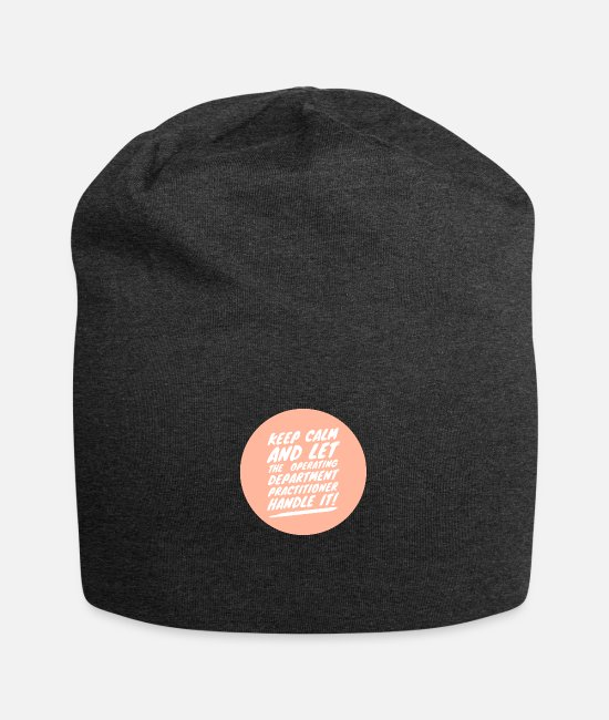 Operating Department Practice Caps & Hats - Keep calm 2 - Beanie charcoal grey