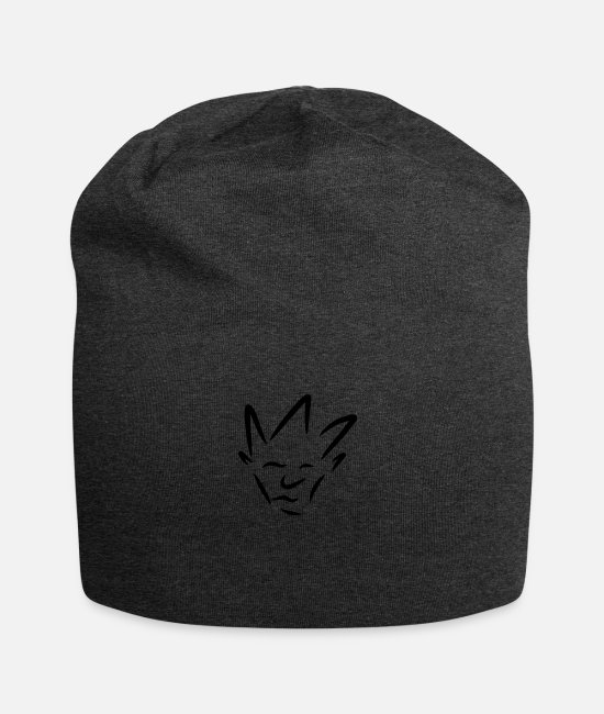 Party Caps & Hats - face - Beanie charcoal grey