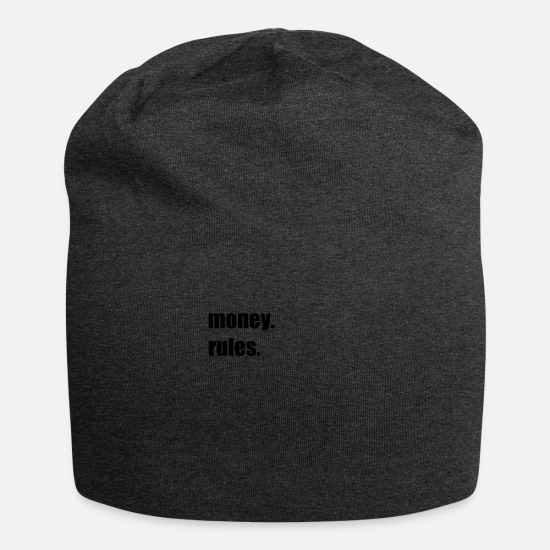 Moneygrubbing Caps & Hats - money rules gift - Beanie charcoal grey