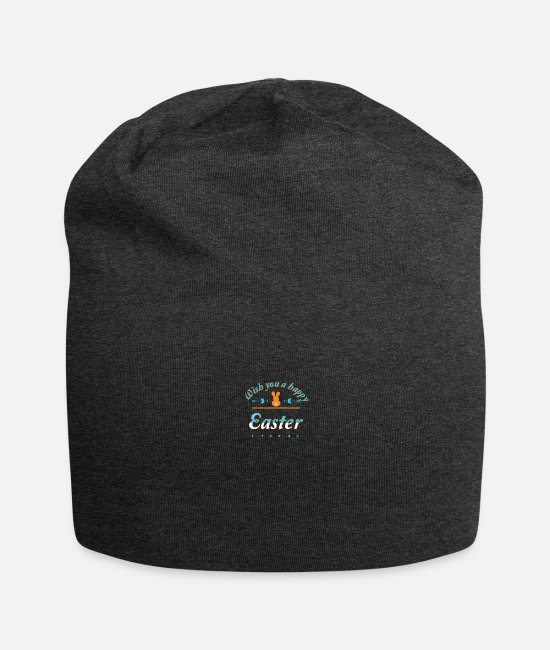 Easter Caps & Hats - Happy Easter - Beanie charcoal grey
