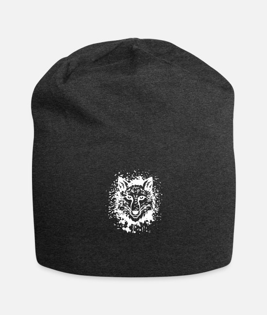 Art Caps & Hats - Wolf Animalis - Beanie charcoal grey