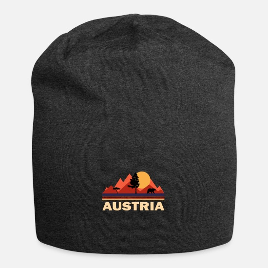 Gift Idea Caps & Hats - Austria mountains Alps mountains gift - Beanie charcoal grey