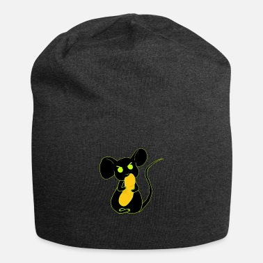 angry mouse eating neon - Beanie