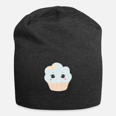 Beady Eyes Cute muffin with ribbon button eyes gift - Beanie