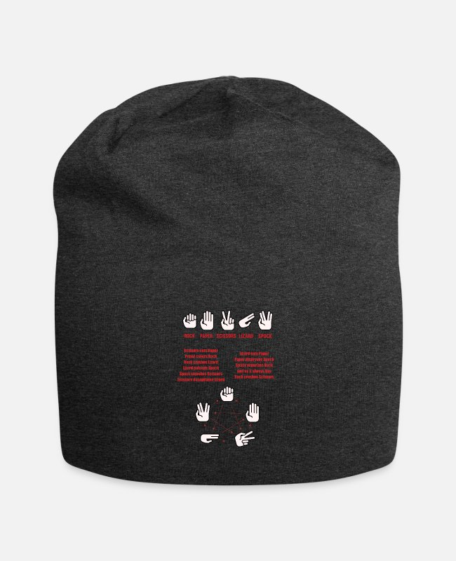 Periodic Table Caps & Hats - The Big Bang Game rules - Beanie charcoal grey