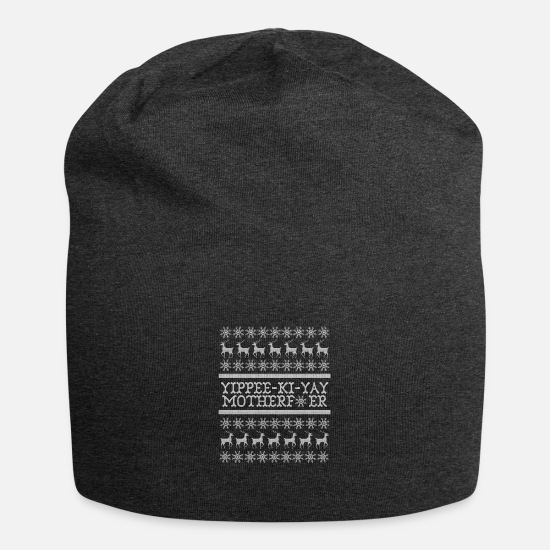 Dur Casquettes et bonnets - Die Hard Its Not Christmas - Beanie charbon