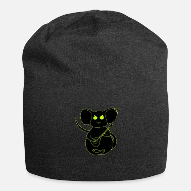 angry rock mouse neon - Beanie