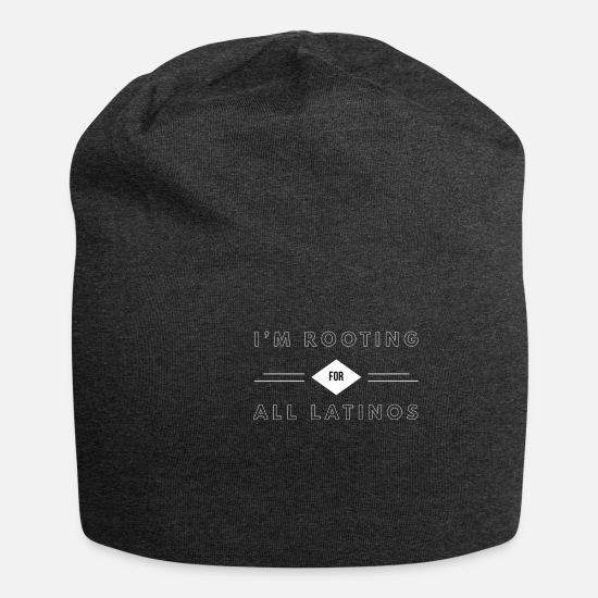Colombia Kasketter & huer - Jeg er rooting For All Latinos White And Black - Beanie charcoal