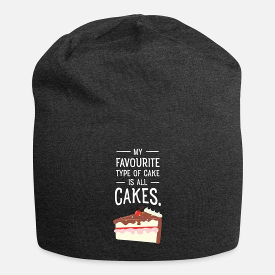 Kuchen Caps & Mützen - My Favourite Type Of Cake Is All Cakes. - Beanie Anthrazit