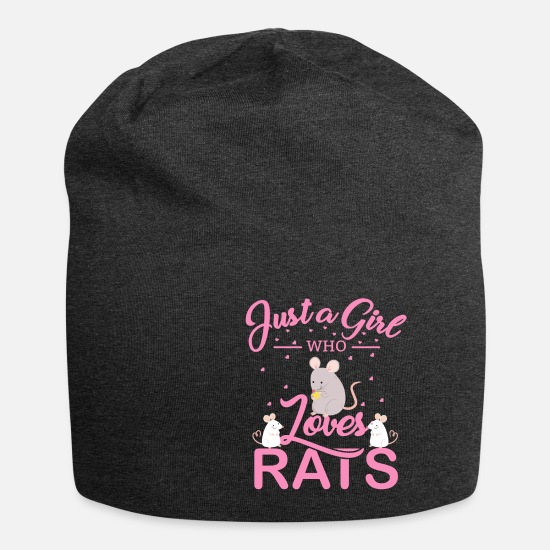 Birthday Caps & Hats - Just a Girl Who loves rats - rat for girls - Beanie charcoal grey