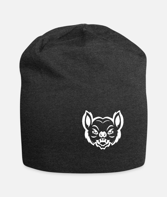 Blood Suckers Caps & Hats - Bat head Bat Animalis - Beanie charcoal grey