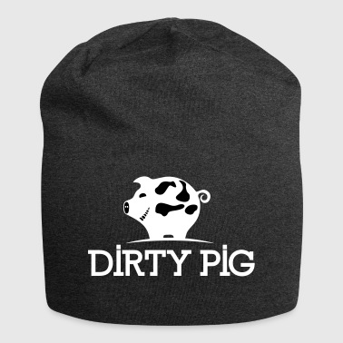DIRTY_PIG_White - Jersey Beanie