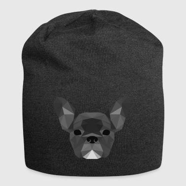 Low Poly Frenchie gray - Jersey Beanie