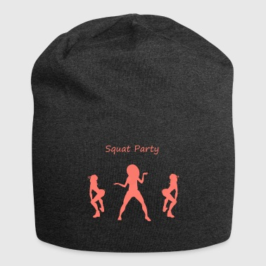 Squat party coral - Jersey Beanie