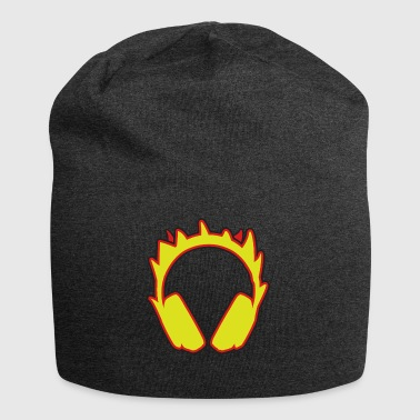 earphones on fire - Jersey Beanie