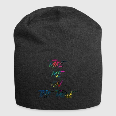 rainbow take me on the table - Jersey Beanie