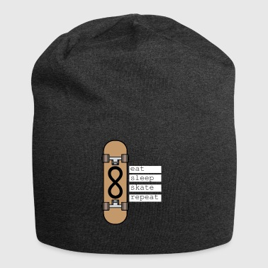Ripetere mangiare Skate sonno - Beanie in jersey