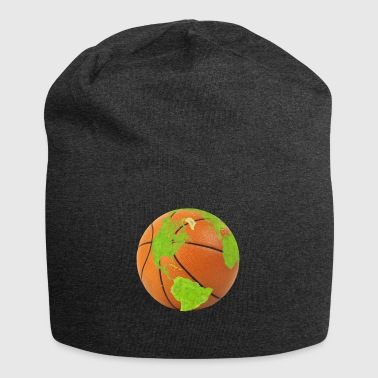 basketball earth planet globe erde globus - Jersey-Beanie