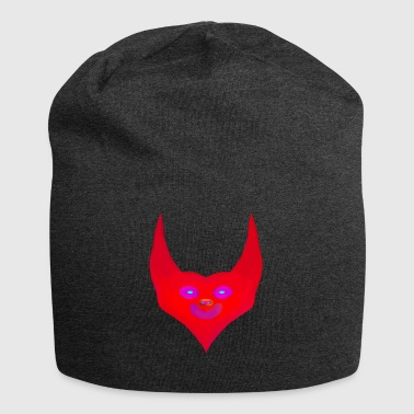 heart horns devil satan abstract - Jersey-Beanie