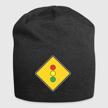 Road Sign lights yellow - Jersey Beanie