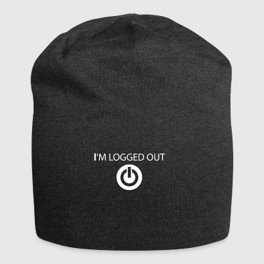 I log out of funny sayings - Jersey Beanie