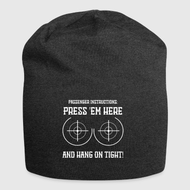 Press here funny sayings - Jersey Beanie