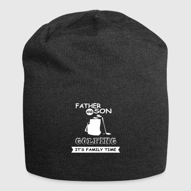 Father And Son - Golfing - Jersey Beanie