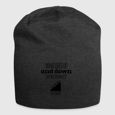 What goes up and down but never moves - Jersey Beanie