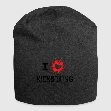 ILove Kickboxing red - Jersey Beanie