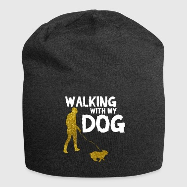WALKING WITH MY DOG - Jersey Beanie