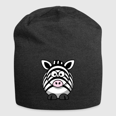 Thick zebra with big eyes comic style - Jersey Beanie