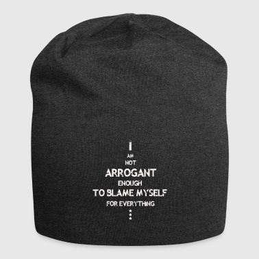 Not Arrogant white - Jersey Beanie