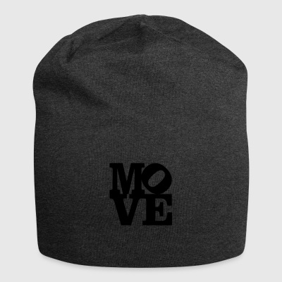 move Homage to Robert Indiana move black inside - Jersey Beanie