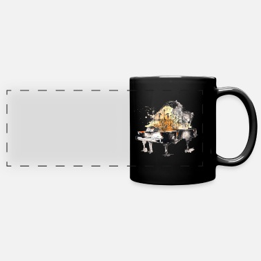 Thrash music pop rock jazz dance - Panoramic Mug