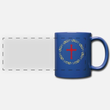 Attractive Circles Gold Cross Faith - Panoramic Mug
